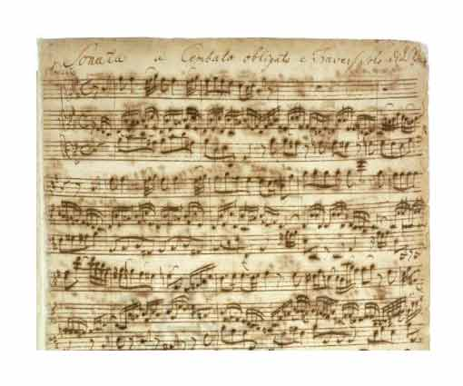 Manuscrit Bach